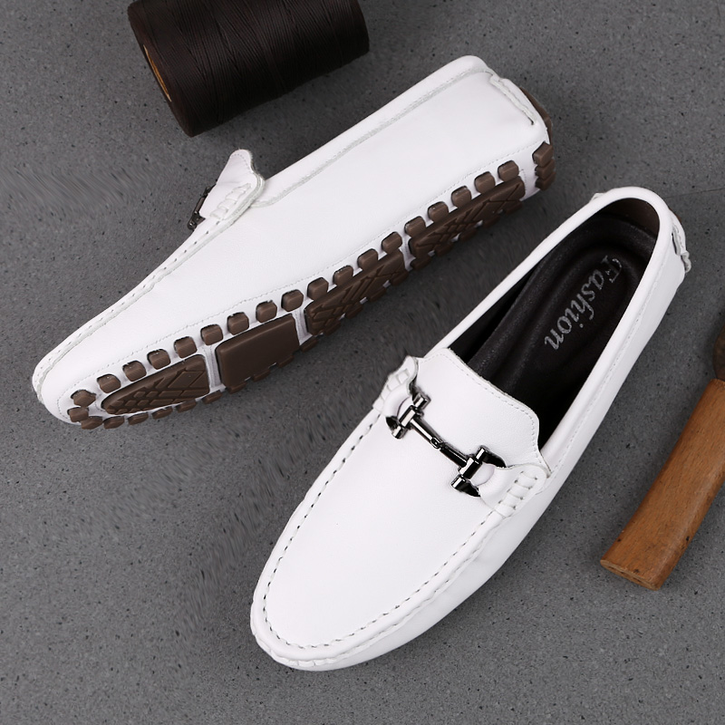 Cheap Popular Leather Shoes For Men Comfortable Loafers Shoes Mens Non-Slip Drive Shoes for Men Handmade Man Shoes Loafers White Black