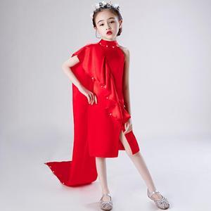 Новинка 2020 года; Пышные платья принцессы для подиума для девочек; Сетчатые платья с вышивкой бисером; Платье для дня рождения для девочек; ...
