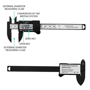 Image 3 - New Arrival 150mm 6 inch LCD Digital Electronic  Vernier Caliper Gauge Micrometer Measuring Tool