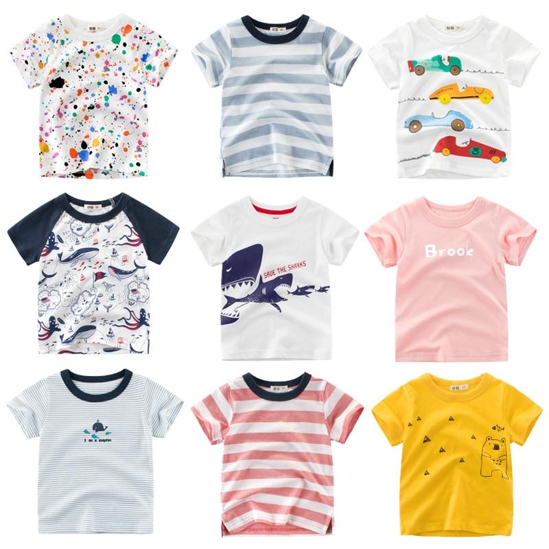 2019 Summer Children Short Sleeve T-shirts Boys & Girls Cotton Tops Tees Kids Summer Clothing White T-Shirt For Boys