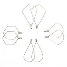 20 шт Нержавеющая сталь подвеска для ушей подвески большая рамка