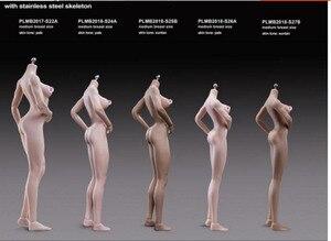 Image 5 - Tblegue 1/6 skala S24A S25B S26A S27B super elastyczne kobiece bezszwowe ciała figurki średnie piersi lalki dla DIY figurka