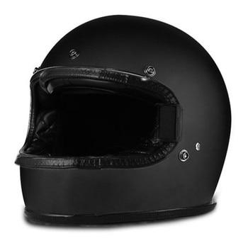 Fiberglass full face helmet motorcycle helmets Racing dot capacete de moto motociclista para Motocross kask casco Matte black