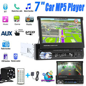 Navigation Autoradio Usb-Player Car-Stereo Retractable with BT DVD MP5 SD FM Rear-View-Camera