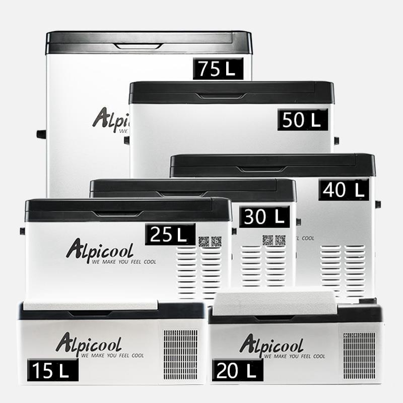 30/40/50L Авто ACDC12/24V Мини Портативный компрессор для пикника на открытом воздухе на колесах для путешествий и дома, автомобильный холодильник глубокая заморозка холодильник 1