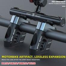 Motorrad Lenker basis lenker erhöhung Riser Clamp Querlatte Halterung Für Suzuki DL250 GW250 S/F Für Yamaha YBR 250 YS250