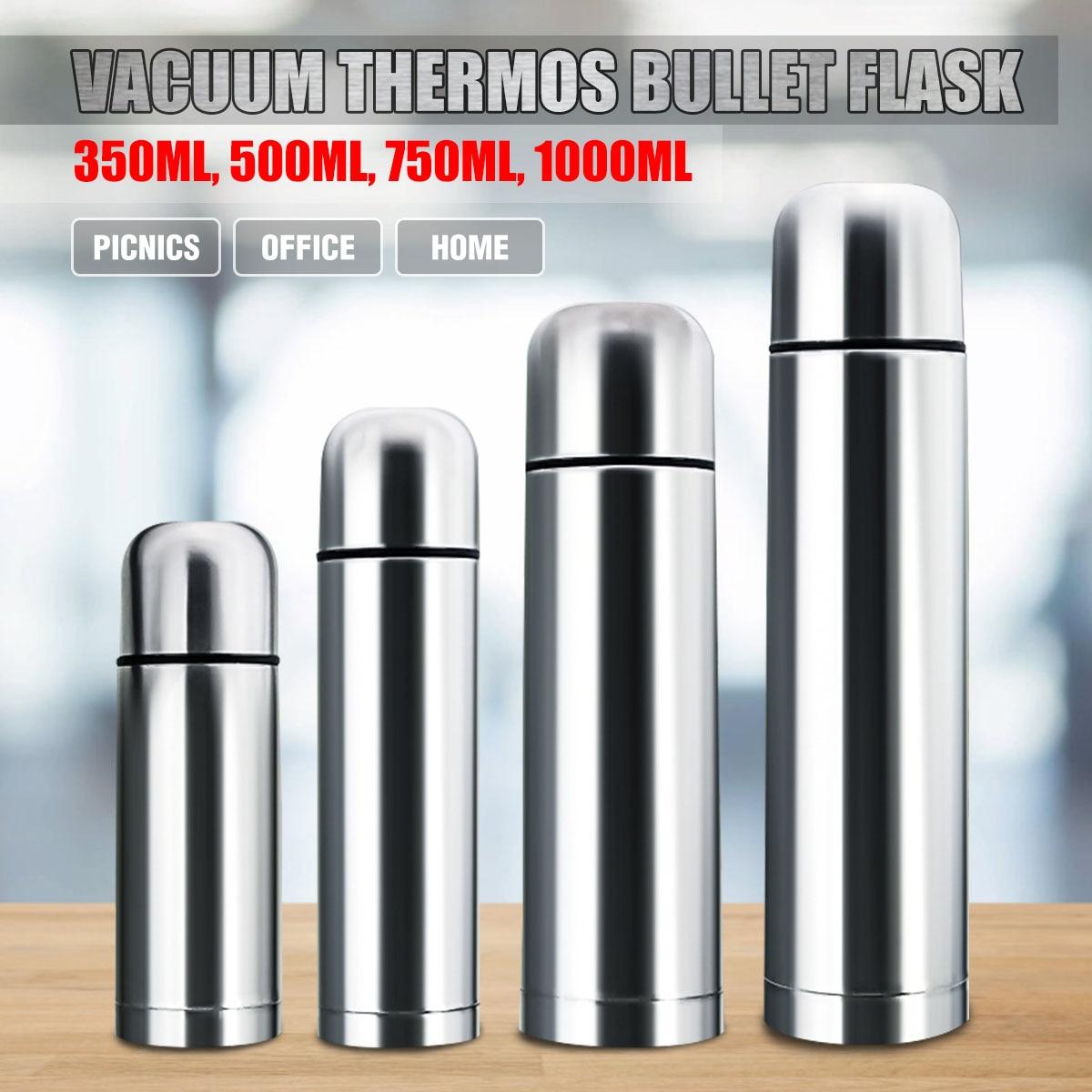 Вакуумный термос пуля фляга 350/500/750/1000 мл Нержавеющаясталь чашки горячей и холодной воды, термобутыль для воды Съемный внутренний Кепки|Вакуумные фляги и термосы|   | АлиЭкспресс