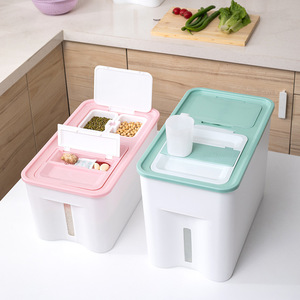 Multi-function Rectangle Moisture-proof Rice Bucket Sealed Plastic Rice Storage Box Insect-proof Household Storage Organizer