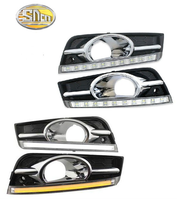 הפעל אות עמעום סגנון ממסר 12V רכב LED DRL בשעות היום ריצת אורות עבור שברולט cruze 2009   2012 עם ערפל מנורת חור