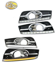 цена на Turn Signal and dimming style Relay 12V car LED DRL Daytime Running Lights for chevrolet cruze 2009 - 2012 with fog lamp hole