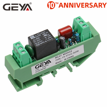цена на Free Shipping GEYA 1 Channel Relay Board 12V 24V 230V 1CH Relay Module Electromagnetic Relay