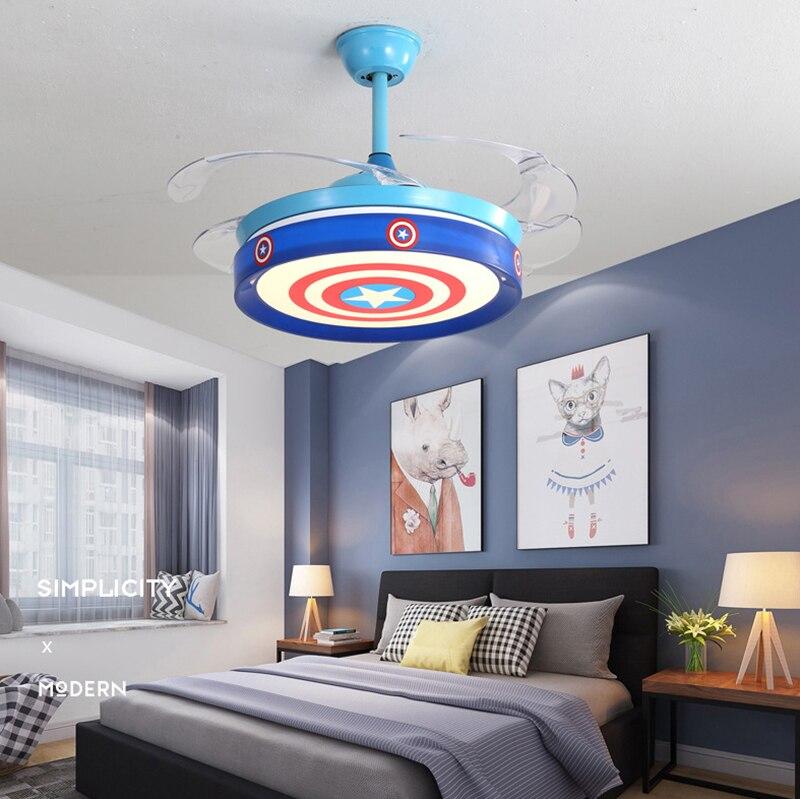 Open-Minded Children's Room, Bedroom, Living Room, Ceiling Fan Lights, Led Modern Fan Lights For Counseling Education Center Waterproof, Shock-Resistant And Antimagnetic