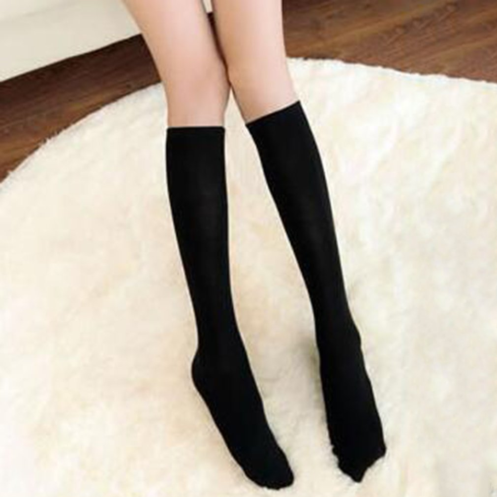 Anime High School Student Girls Black White Velvet Thigh Cosplay Socks High Socks Stockings Over The Knee