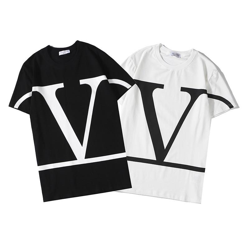 Tshirts Men Women Valenti 2020SS Classic T Shirt Hip Hop Fashion Short Sleeve Cotton 1:1 Shirts Casual Summer Brand Tops Tees