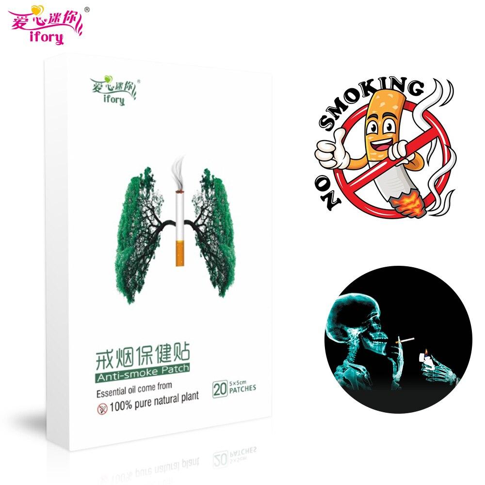 Ifory 1 коробка = 20 шт. натуральный ингредиент анти-дым Патч китайский из трав, медицинская штукатурка остановить бросить патч здравоохранения ...