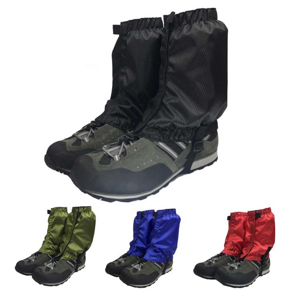 Yeni trekking ayakkabıları kapakları açık kar kayak çorapları bacak kapağı yürüyüş tırmanma çizme tayt su geçirmez avcılık ayakkabı koruyucu