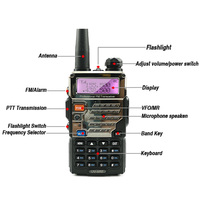 5r uv 2pcs Baofeng UV-5RE מכשיר הקשר Dual Band נייד שני הדרך רדיו חובבים רדיו משדר כף יד Baofeng UV-5R פלוס Walky טוקי (2)