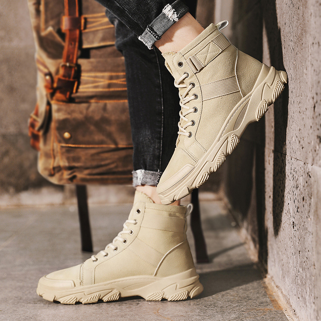 CYYTL militaire bottes tactiques en cuir désert Combat en plein air armée bottes randonnée chaussures voyage Botas hommes Trekking Botas