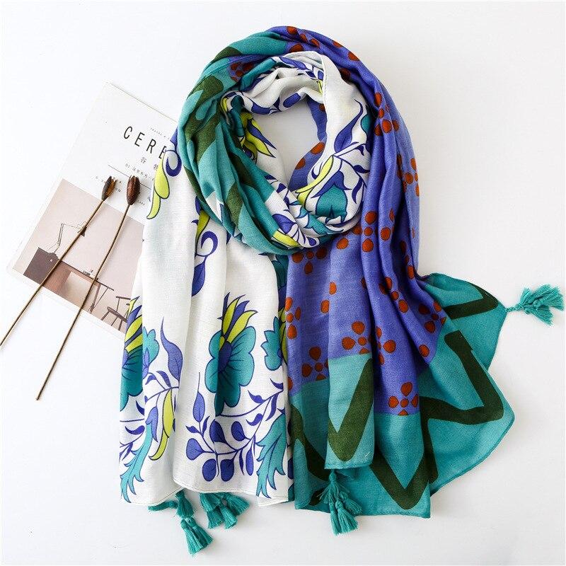 Fashion Ladies Floral Scarf  Wrap Long Shawl Chiffon Multi-color Optional