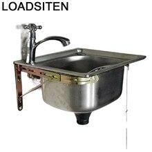 Evier Cuisine Lava Manos Portable Acero Escurridor Inoxidable Kitchen De Cocina Pia Cozinha Lavabo Fregadero Dishwash Sink