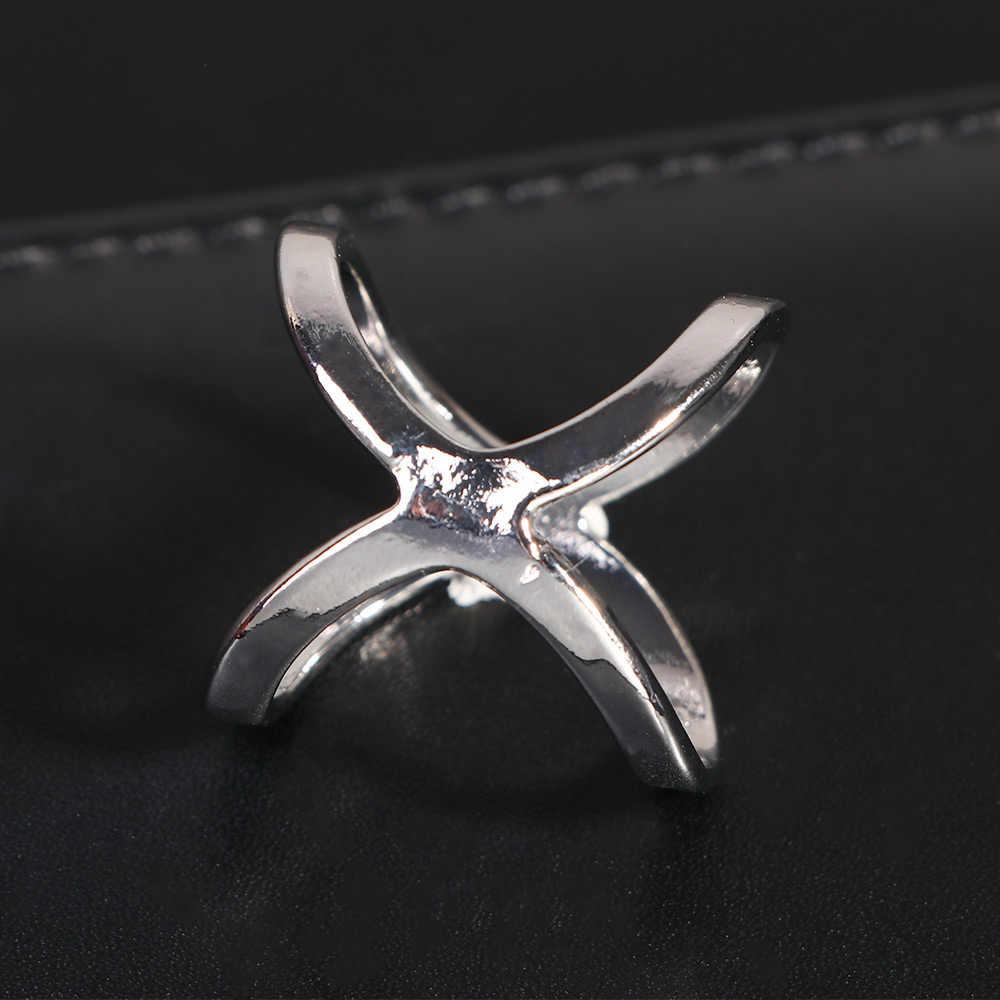 2020 Baru Desain Sederhana Syal Klip Fashion Perhiasan Emas Perak Warna Syal Cincin Dudukan Syal Selendang Gesper Wanita Hadiah Klasik