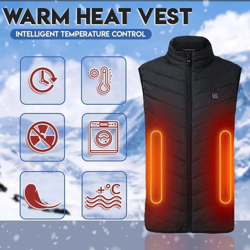 Electric Heated Vest Heating Waistcoat Thermal Warm Clothing Usb Heated Outdoor Vest Winter Heated Jacket Dropship