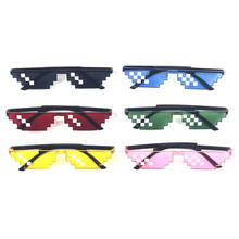 Color Thug Life Glasses Deal With It Toy Pixel Women Shades Men Black Mosaic Sunglasses Eyewear for Party