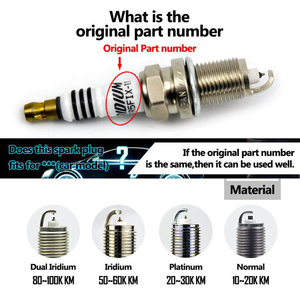 Image 4 - Bujías de iridio para coche Honda Civic IZFR6K 11S, CR V, 4x, 9807B 561BW