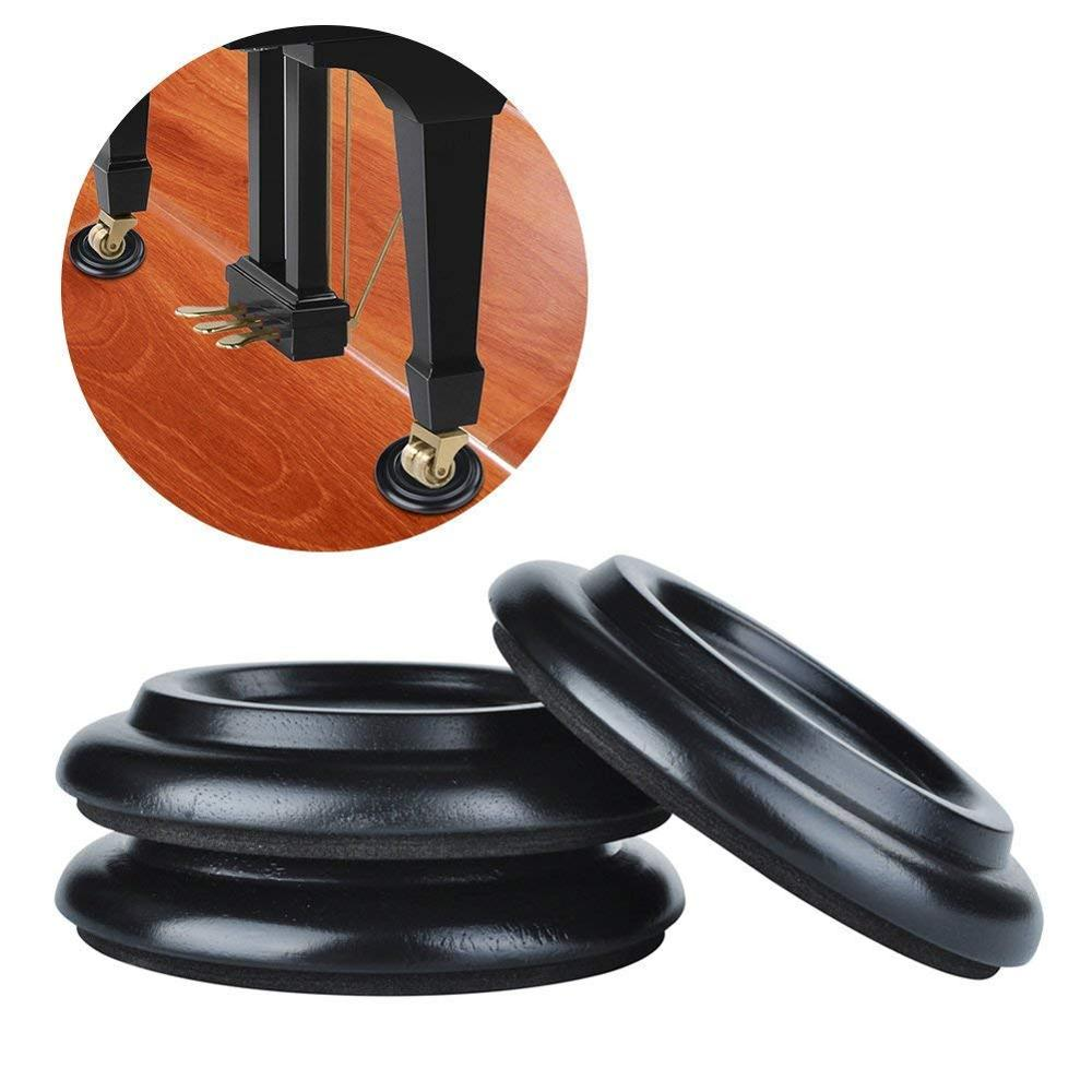 3Pcs Piano Caster Cups Grand Piano Caster PadsAnti-Slip&Anti-Noise,Solid Wood Coasters Cups Piano Leg Pad For Tripod Grand Piano