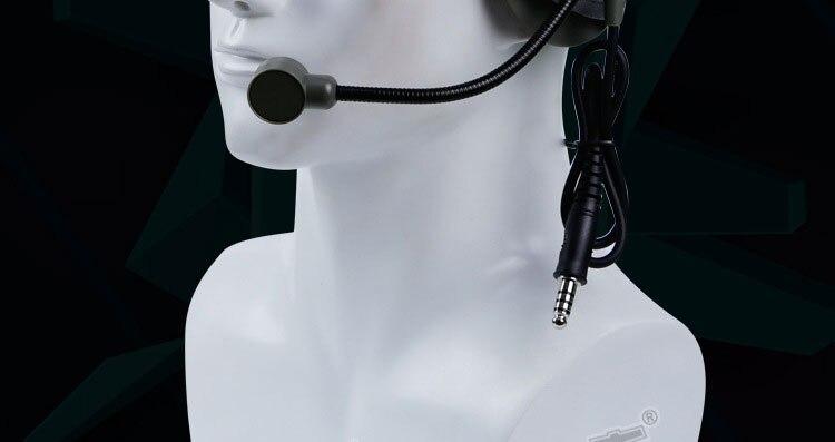 Fone de ouvido tático anti-ruído impacto som