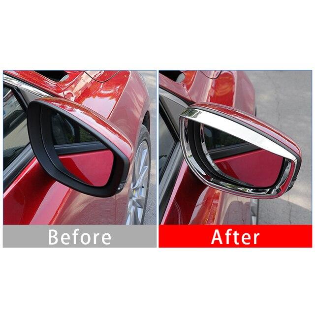 Купить abs хромированный автомобильный боковой дождь для зеркала заднего картинки цена