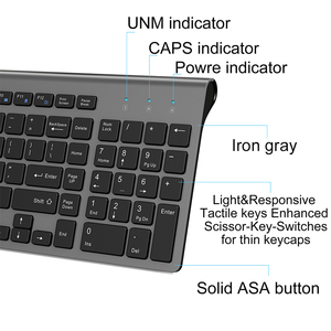 Image 4 - JOYACCESS Spanish/Italian/German/French/Russian Keyboard Wireless with Multimedia Keys Ergonomic keyboard for Notebook Laptop PC