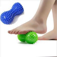 Erdnuss Form Massage Yoga Sport Fitness Ball Dauerhafte PVC Stress Relief Körper Hand Fuß Spiky Massager Trigger Punkt Fuß Schmerzen