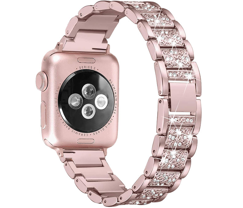 Bracelet Apple Watch Femme Sertie de Cristaux