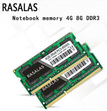 Rasalas Laptop Memória Ram DDR3 2G 4G 2Rx8 8G 1066 1333 1600Mhz 1.5V 204Pin PC-8500 10600 12800MHz Notebook Oперативная Nамять
