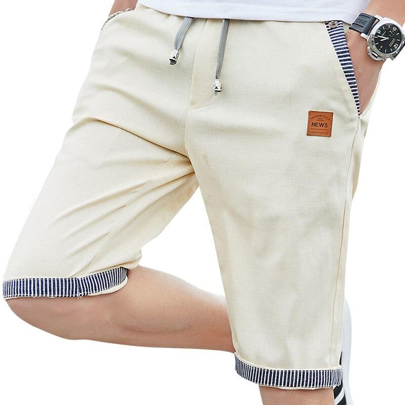 Льняные мужские шорты, новые летние повседневные шорты из хлопка, модные мужские шорты Бермуда, пляжные шорты большого размера, мужские бегуны для бега, 4922|Шорты| - AliExpress