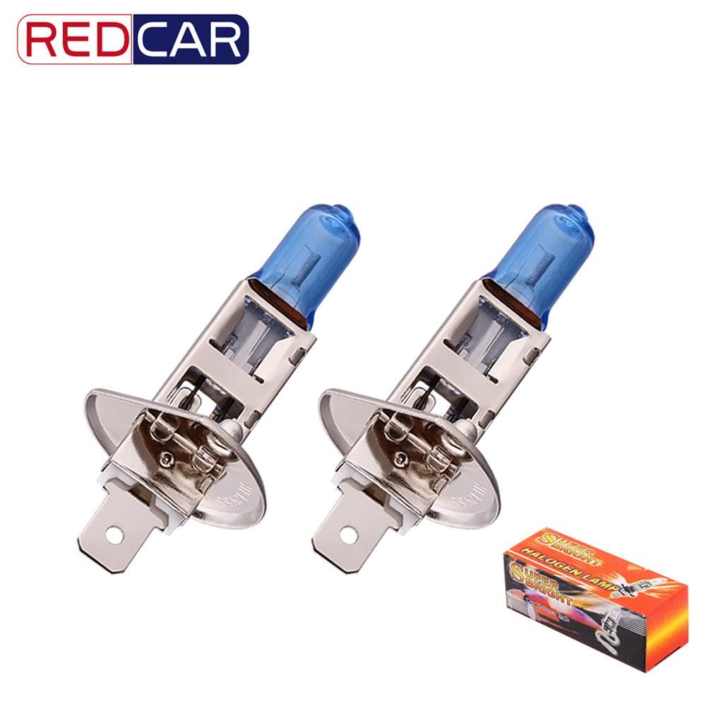 2pcs 55W 12V H1 White Halogen Led Bulb High Beam Headlight Bulb Fog Lights Super Bright White Halogen Bulb High Power 5000K