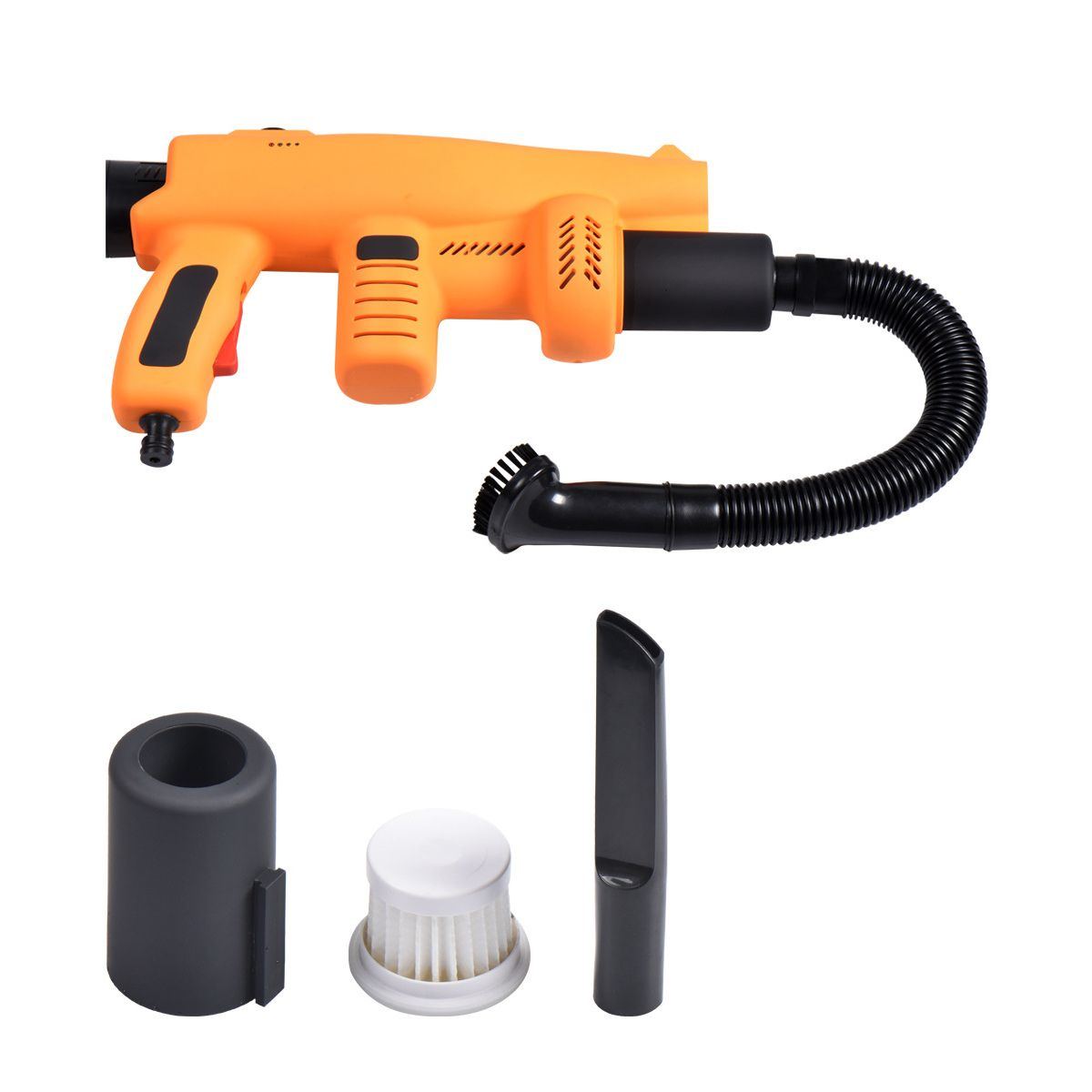 12V High Pressure Car Wash Car Washer Pump Cleaner Car Care Portable Electric Washing Machine with Vacuum cleaner brush