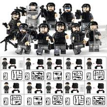 10pcs/set Military Special Forces Soldiers Bricks Figures Guns Weapons Compatible Legoings Armed SWAT Building Blocks Kids Toys(China)