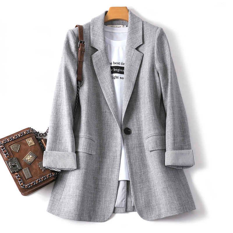 3XLOver-size New Suit Jacket Female Spring Summer Fashioin Loose Casual Korean Outwear Aautumn Women Shirt Small Suit
