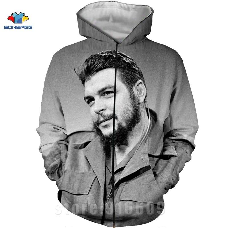 Winter Coat 3D Print Che Guevara Jacket Men Sweatshirts Women Fashion Hoodies Mens Pocket Sweatshirt Harajuku Hoodie Pullovers (16)