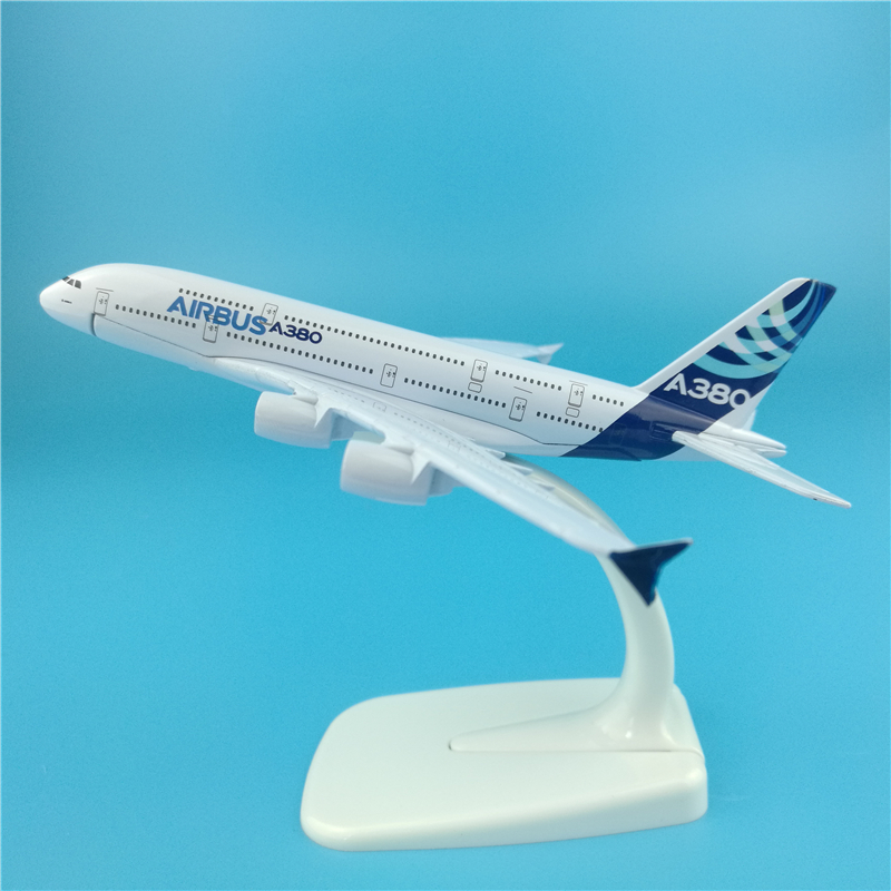 16cm Prototype Airlines <font><b>A380</b></font> Airplane <font><b>Model</b></font> Diecast Scale 1:400 <font><b>Airbus</b></font> <font><b>A380</b></font> Prototype Metal Aircraft <font><b>Model</b></font> Decoration Souvenir image
