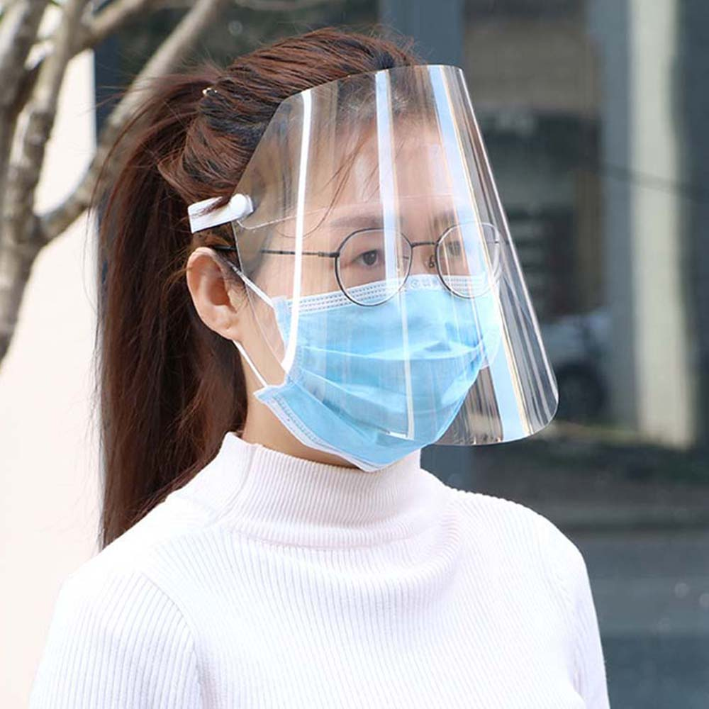 Transparent Protective Face Mask Full Face Protective Face Screen Anti-fog Anti Splash Dust-proof Full Face Mask