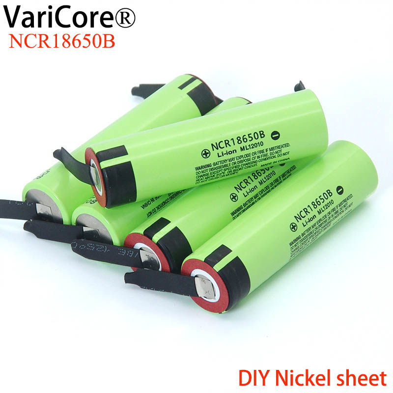 2020 New Original NCR18650B 3.7 V 3400mah 18650 Lithium Rechargeable Battery Welding Nickel Sheet Batteries