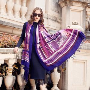 Image 2 - Wool Women Scarves Stoles Elegant Carf Warm Shawl Bandana Scarf Luxury Brand Muslim Hijab Beach Blanket Face Shield Foulard