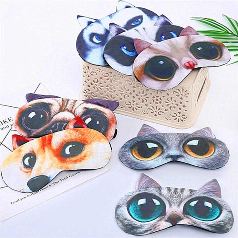 9 Gaya Lembut Nilon Cute 3D Kartun Hewan Katun Tidur Penutup Mata Bersantai Mata Masker Shade Cover Penutup Mata Istirahat Tidur Bantuan alat