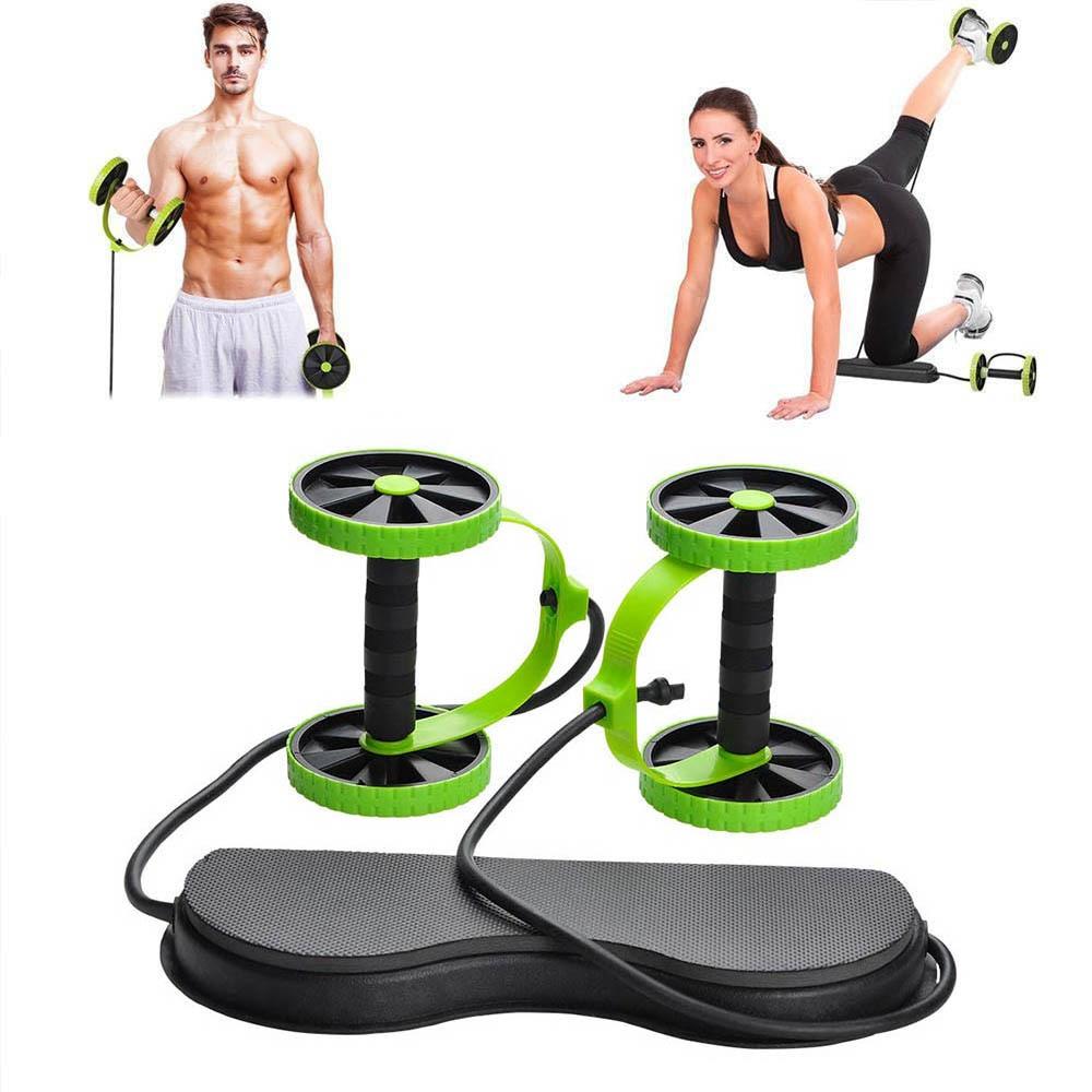 AB Roller Wheel Pull Rope Waist Abdominal Slimming Exercise Fitness Equipment
