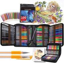 12-120 colors Gel Pen Set Bullet Gel Ink Pen for Adult Coloring Books Bullet journal Pen Fineliner Drawing Sketch Markers