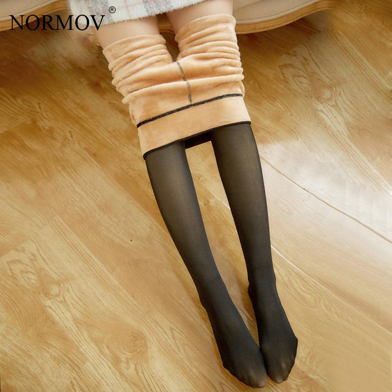 NORMOV Women Sexy Black Thick Tights Winter Pantyhose Transparent Elastic Tights Warm Thick Pantyhose For Stockings
