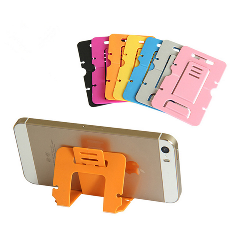 Universal Folding Table cell phone support Plastic holder desktop stand for your phone Smartphone & Tablet phone holder car(China)